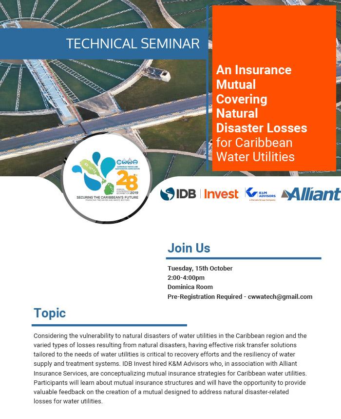 Technical Seminar - An Insurance Mutual Covering Natural Disaster Losses for Caribbean Water Utilities