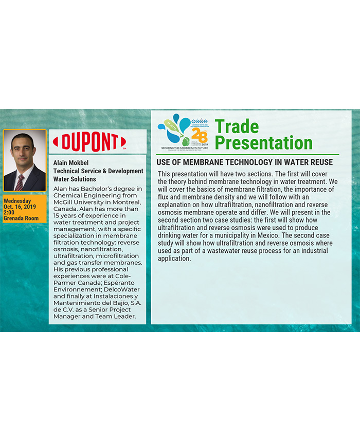 Trade Presentation - Use of membrane technology in water reuse