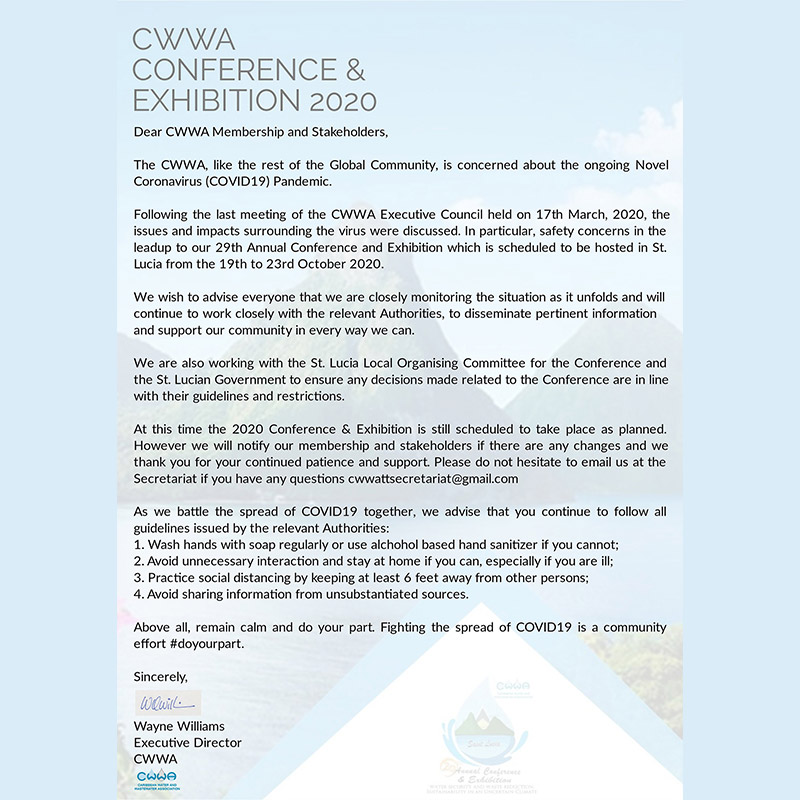 COVID-19 - Executive Director's Message